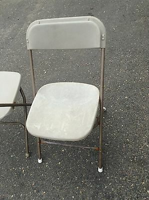 100 Used Plastic Folding Chairs bone Party Rental Chair CAN SHIP. Bulk discounts