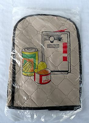 """Electric Can Opener Cover Quilted Vinyl Vintage Retro NOS 7"""" X 10"""""""