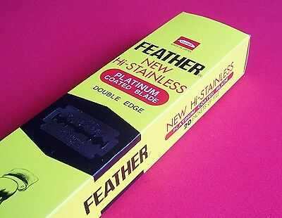 Feather Razor Blades Platinum Doubled Edged New Stainless Shaving U Pick Qty