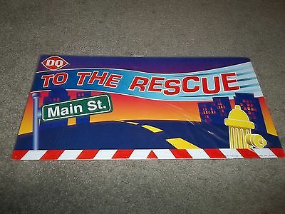 Rare Dairy Queen Promotional Poster To The Rescue Kids Meal Cardboard 2002