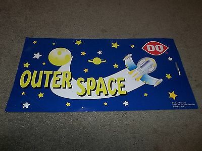 Rare Dairy Queen Promotional Poster Outer Space Kids Meal Cardboard 1998