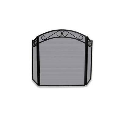 NEW Blue Rhino S-1088 3 Fold Black Wrought Iron Arch Top Screen with Decorative