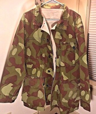 Rare & Reconditioned M62 Finnish Camouflage Reversible Shirt, Xtra Large (XL)
