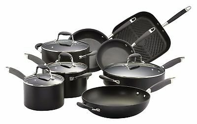 NEW Anolon Advanced 8 Piece Cookware Set Black Hard Anodised