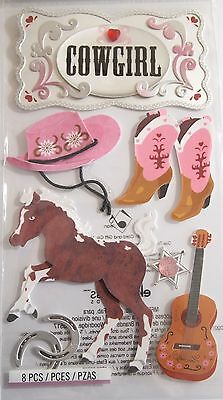 JOLEE'S BOUTIQUE LE GRANDE COWGIRL Western Scrapbook Craft Sticker Embellishment