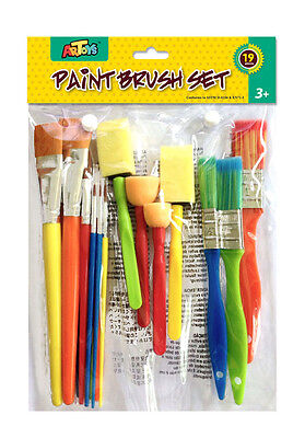 19pcs Paint Brush Set Assorted sizes & shapes Great Set for kids art painting