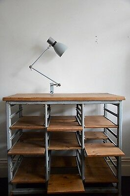 vintage industrial Dutch open counter adjustable storage unit cabinet shelving