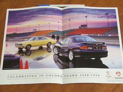 1998 50 years of Holden single sided mini poster