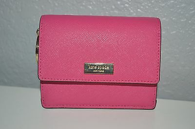 Kate Spade Card Holder With Id Slot And Key Chain Hot Pink