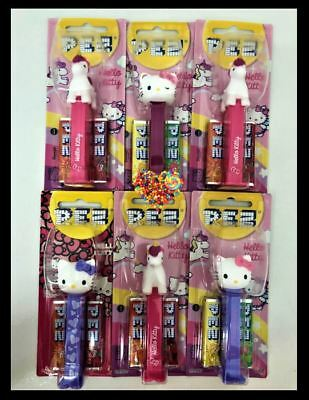 Pez Hello Kitty 6 Pack Limited Edition Fruity Lollies Hello Kitty