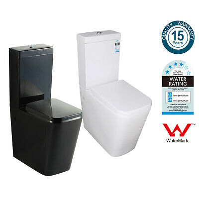 Washdown Toilet Suite Bathroom Back to Wall Faced Dual Flush Soft Close Seat 003