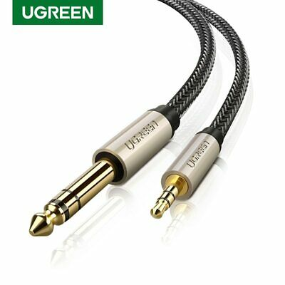 "UGREEN 3FT 3.5mm 1/8"" Male to 6.35mm 1/4"" Male TRS Stereo Audio Cable NylonBraid"