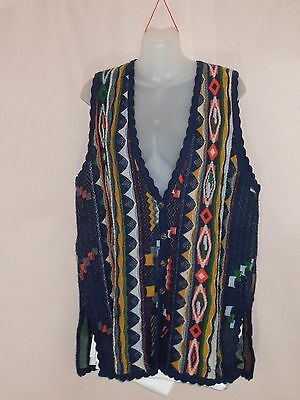 1980's Vintage Wool Vest in Stripe Pattern.
