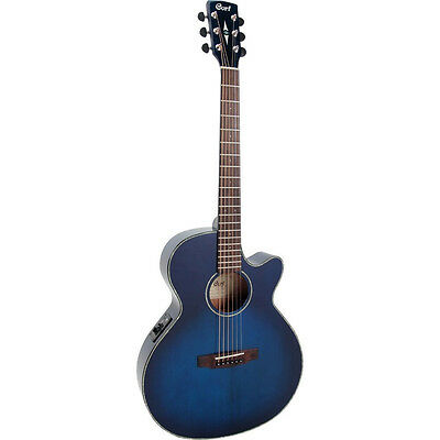 Cort Acoustic Electric Guitar SFXE TRANS BLUE BURST, Solid Spruce Top, save $200