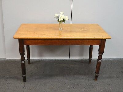 Lovely Antique Victorian Pine & Blackwood Farmhouse Table * Dining Table  c1800s