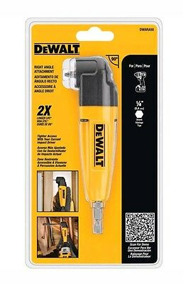 DEWALT Right Angle Drill Adapter Tight Spaces Corded Cordless Drills Attachment