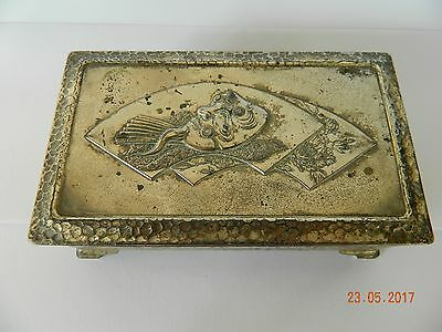 Vintage Jewellery Box Made In Occupied Japan & Assorted Cufflinks
