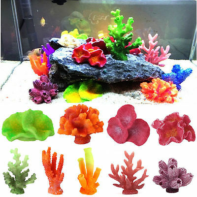 Artificial Resin Coral For Aquarium Fish Tank Decoration Underwater Ornament New