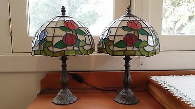 Beautiful Pair (2) Bedside Table Lamps