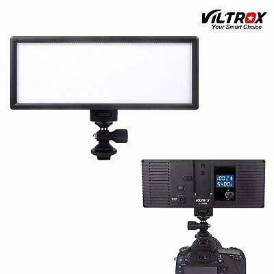 132 LED 1082LM Slim Dimmable LCD Display Light Camera Camcorder Video DSLR Lamp