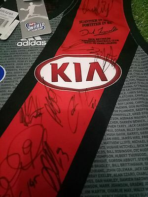 Signed Essendon Football Club AFL Bombers Guernsey! Dick Reynolds RARE!!