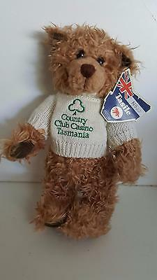 Teddy bear from Country Club Casino Tasmania NWT excellent condition