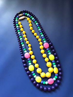 3 Brand New Food Grade Silicone Teething Necklaces