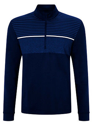 Callaway Chest Striped Pullover - Peacoat
