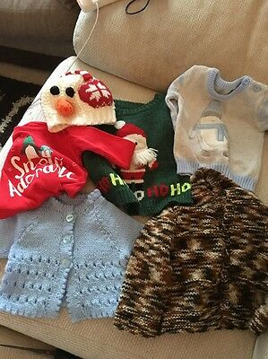 Boys Bundle Of Jumpers Age 3-6 Months
