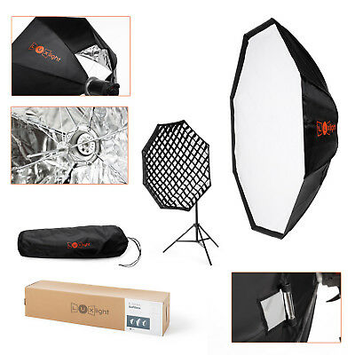 Foldable Octagon Umbrella Softbox & Grid | 120cm Bowens Fit | Pro Photo Studio