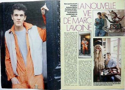 MARC LAVOINE => COUPURE DE PRESSE 4 pages 1986 / CLIPPING