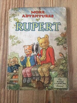 More Adventures of Rupert 1953 Annual . Daily Express Publication