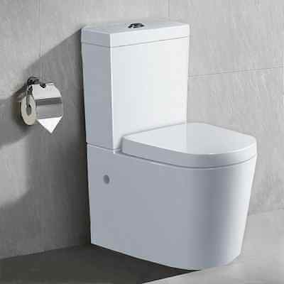 White Carlton Back-To-Wall Toilet Suite With S-Trap Pipe