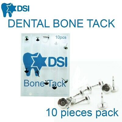 DSI Dental Implant Bone Tack Membrane Fixation Titanium Pin Surgical 3mm 10pcs