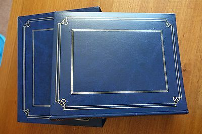 50 Page Photo Album - Navy Hardcover with Navy Display Case - BRAND NEW