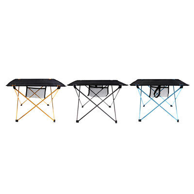 Folding Roll Up Outdoor Camping Small Table Picnic Beach Fishing BBQ Desk & Bag