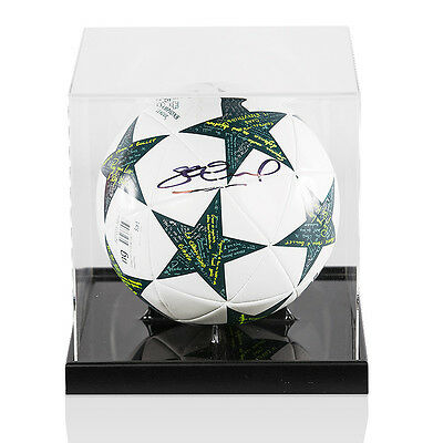Steven Gerrard Signed Football Champions League In Acrylic Display Case