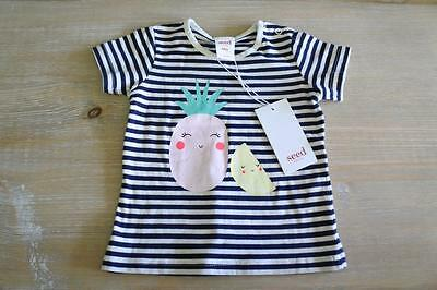 ** SEED ** Sz 6-12 months striped pineapple tshirt top! NWT $24.95