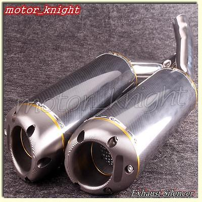Motorcycle Carbon Fiber Exhaust Muffler Silencer Fit Yamaha  YZF R1 2004-2006