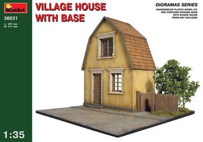 MiniArt - Village House with Base 36031 1:35 Scale Model Scenery Diorama
