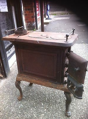 Original Victorian Antique Cast Iron Wood Burner stove.