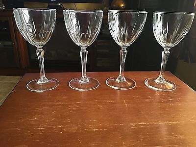"""Cris d'Arques Durand BERGERAC WATER GOBLETS 7 1/2"""" inches (set of four)"""