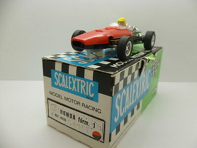 Scalextric C36 Honda, made in spain, red on black base, totally super condition,