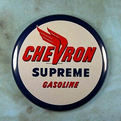 "Vintage Style Advertising Sign Fridge Magnet 2 1/4""  Chevron Gasoline Racing"