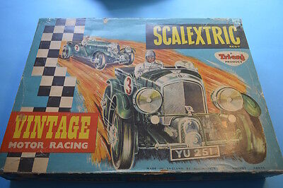 Scalextric Rare Bentley set, good box and mint cars!