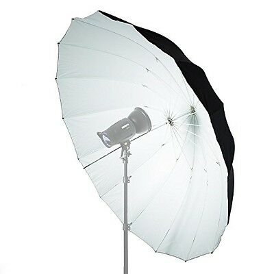 Mega Parabolic Black & White Reflective Umbrella 180cm - Photo Studio Diffuser