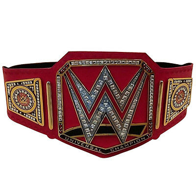 WWE Universal Championship Genuine Leather Replica Title Belt Zinc Alloy & Brass