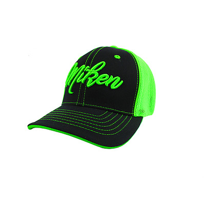 Miken Hat by Pacific 404M Black/Lime/Script Youth (6 3/8- 6 7/8), new