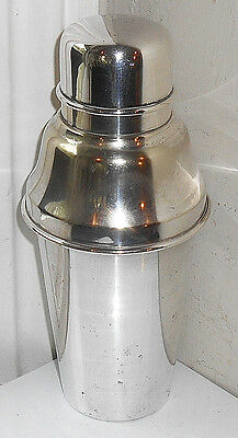 VINTAGE SILVER PLATED BRITISH MADE COCKTAIL SHAKER c.1920