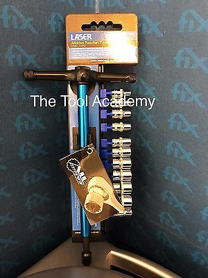 ALLDRIVE SOCKETS 1/4 DRIVE WITH RATCHET T-HANDLE 4mm - 13mm GREAT TOOL SET